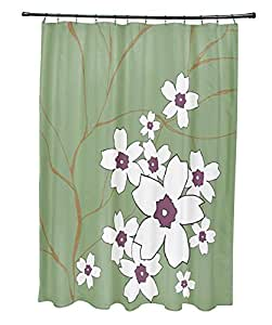 Ebydesign So Nr3 Mulitple Edamame Plum Floral Shower Curtain Multicolor Home Kitchen