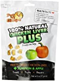Pet 'n Shape Freeze Dried Chicken Liver PLUS Treats for Dogs, Pumpkin and Apple, 100 Percent Natural, 2-Ounce Bag