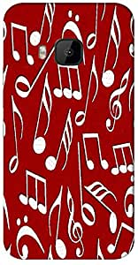 Timpax Protective Armour Case Cover. Multicolour Printed Design : Musical.Exactly Design For : HTC-M9 ( M-Nine)