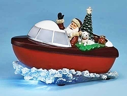 Santa in Motorboat - Lighted, Musical & Animated Chistmas Decoration