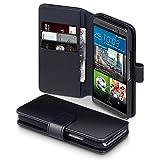 HTC M9 Cover, Terrapin Echt Leder Brieftasche Case Hülle