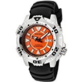 Seiko Men&#8217;s SKZ281 5 Sports Automatic Orange Dial Black Rubber Diver Watch