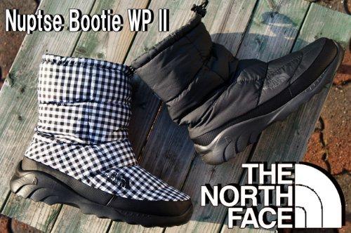 [THE NORTH FACE]ブーツ NF01269 ヌプシ ブーティー WP II 25cm KW(ブラック×ホワイトギンガム)