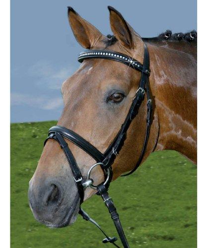 Wembley Trense Swarovski schwarz Pony