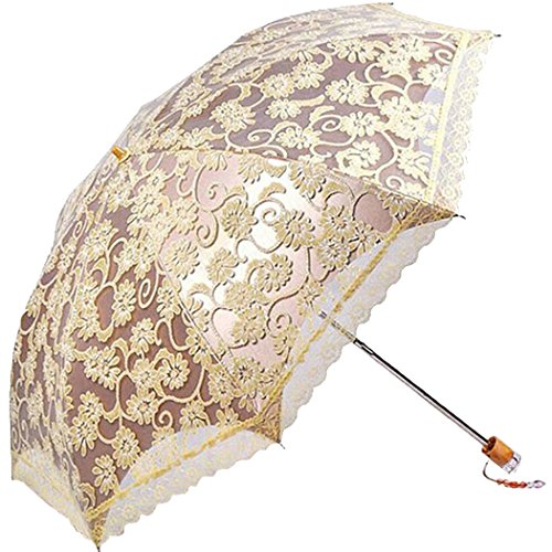 Best Price For Tinksky Lace Anti Uv Folding Parasol Umbrella Sun