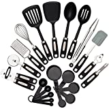 "HomeNative 22-Piece Kitchen Utensils Set - 7 Stainless Steel Cooking Tools, 4 Nylon Utensils (2 Spoons and 2 Turners), 5 Measuring Cups, 5 Measuring Spoons and One Silicone Spatula - comes with Bonus ""The Best You"" Ebook"