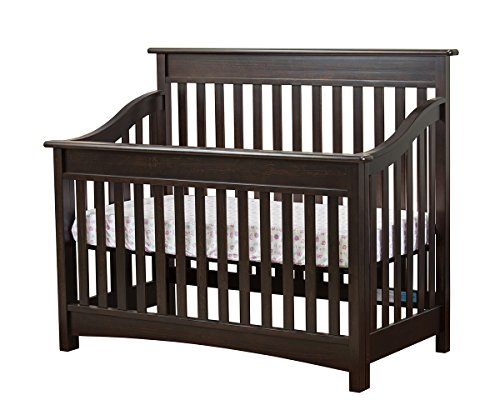 Mia Moda Peyton 5 and 1 Lifestyle Convertible Crib, Espresso - 1