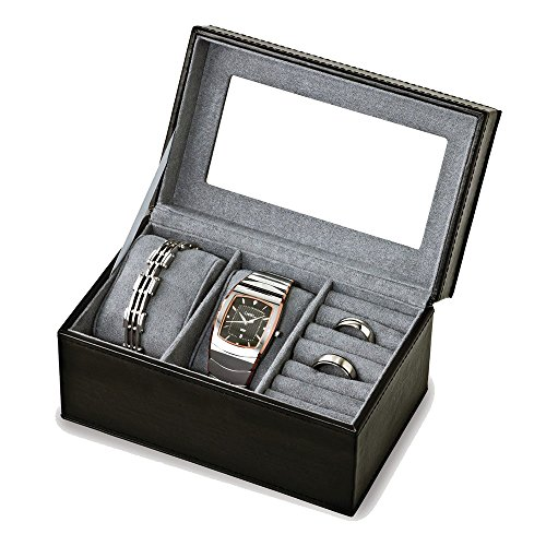 black-polyurethane-with-interior-2-watch-and-ring-case-available-in-black-grey