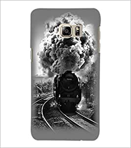 PrintDhaba Train D-2344 Back Case Cover for SAMSUNG GALAXY NOTE 5 EDGE (Multi-Coloured)