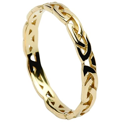 Celtic 3.4mm 14ct Yellow Gold Eternal Knot Ring