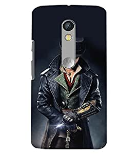 PrintDhaba WOLF MAN D-6416 Back Case Cover for MOTOROLA MOTO X PLAY (Multi-Coloured)