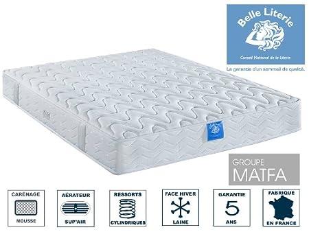 Belle Literie - Matelas Diadème 21 Cm - Blanc - 130 X 190 Cm