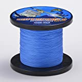 SuperPower Saltwater Blue Braided Fishing Line 500M(547 Yds) /1000M(1100Yds) Dyneema Fiber