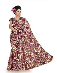 Designersareez Women Khadi Silk Printed Multicolor Saree With Unstitched Blouse(1025)