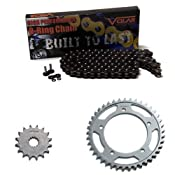 Amazon.com: 2013-2015 Kawasaki EX300 Ninja 300 O-Ring Chain and Sprocket Kit - Black: Automotive
