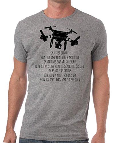 Herren Slimfit T-Shirt Ja es ist eine Drohne