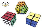Ottiman Cube Puzzle Bundle Pack-Interesting Fun Stickerless Magic Cube, Smooth Turning Durable with Vivid Colors, Children Kids Brain Teaser & Education Cube Speed Cube Collection [並行輸入品]