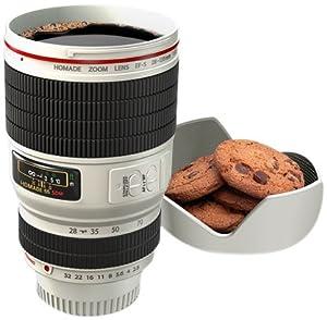 Thumbs Up CAMCUPWHT Camera Lens Cup Trinkbecher Kameraobjektiv, weiß