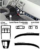 Prewoodec Cockpit Dekor f�r Landrover Freelander Mod. 2001 08.2000 - 08.2010 Galaxy Black (Exklusive 3D Fahrzeug-Ausstattung - Made in Germany)