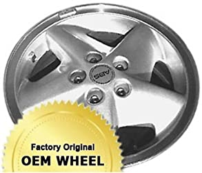 PONTIAC SUNFIRE 15X6 5 SPOKE Factory Oem Wheel Rim- MACHINE LIP SILVER – Remanufactured