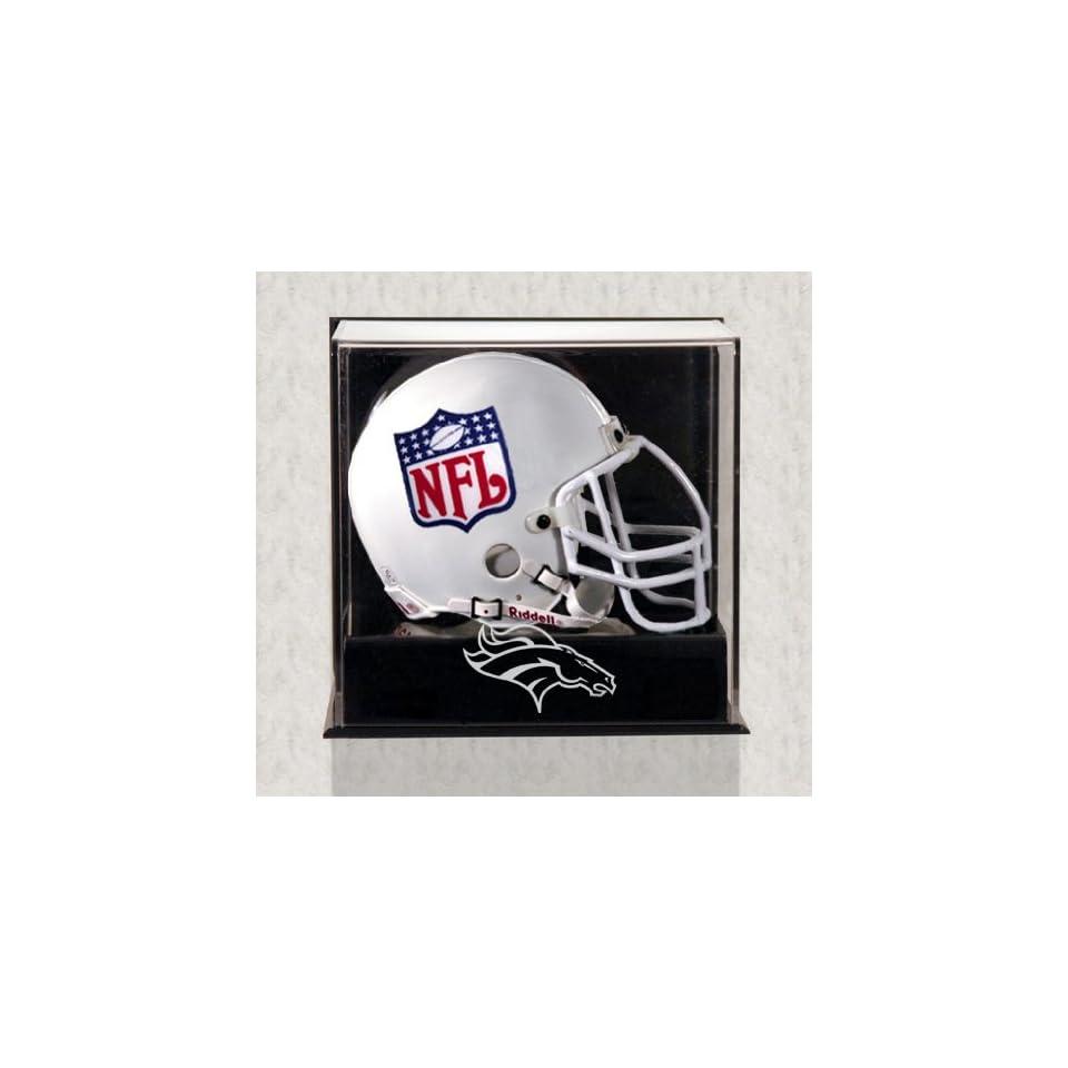 Denver Broncos Mini Helmet Display Case   Wall Mounted