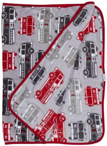 Carter'S Toddler Printed Coral Fleece Blanket, Fire Truck front-160646