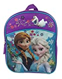New Frozen Elsa and Anna 16 Backpack School Kids Multi Cargo Book Large Bag