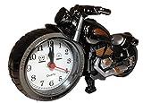 ビンテージ デザイン♪ 【 インテリア 置時計 オートバイ バイク 蒸気 機関車 クラシック [ELEFANG] 】アラーム機能付き♪