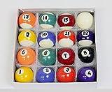 【JUEKO】家庭用ビリヤードボール16個セット 38mm球 本物と同じ素材 同じ工場で製造 BY-3410A