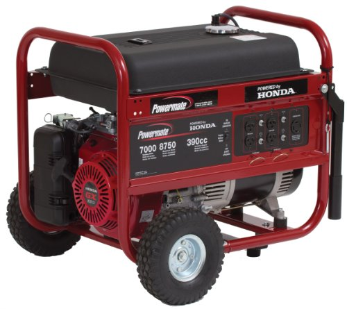 51LBYWISw6L. SL500  Powermate PM0497000.04 8,750 Watt 389cc 13HP Honda GX390 Gas Powered Portable Generator