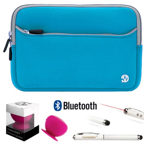 Anti-Scratch Slim Neoprene Sleeve For Asus Padfone Mini Dock And Phone + Pink Bluetooth Suction Speaker + Stylus Pen