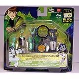 Ben 10 Alien Creation Chamber Mini Figure 2 Pack Diamondhead And Grey Matter By Bandai