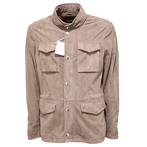 9904Q giubbotto uomo BRUNELLO CUCINELLI leather men sahariana [M]