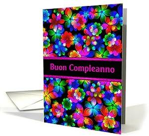 Amazon.com : Italian Happy Birthday 3D Flowers (Buon