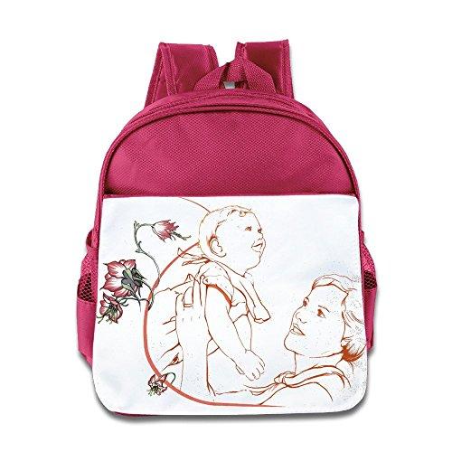 Bro-Custom Great Motherly Love Design Knapsack For Boy's & Girl's Pink