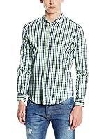 GAS Camisa Hombre Andrew Core (Verde / Morado)