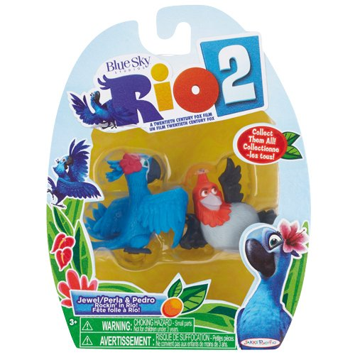 Rio 2 Movie, Jewel/Perla and Pedro Mini Figure 2-Pack