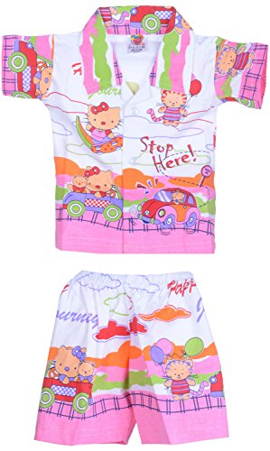 Amy Baby Boys' Dress (480_C_1_12-18 Months, Pink, 12-18 Months) - Special Offer with Free Shipping - 100% Cotton Exclusive Kidswear