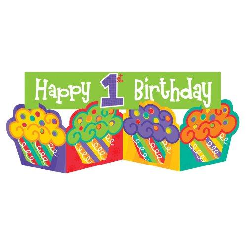 Creative Converting - 1st Cupcake Centerpiece - Standard
