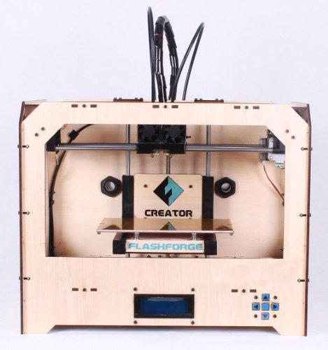 SALE FlashForge 3D printer, dual extruder w/2 ABS spools