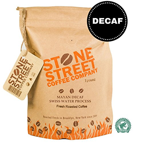 MAYAN DECAF Swiss Water Process Whole Bean Coffee | 1 LB Bag | RFA Certified 100% Chemical Free Decaffeination Process | Central American Origin | Low Acidity | Medium Roast (Light Roast Decaf Whole Bean compare prices)