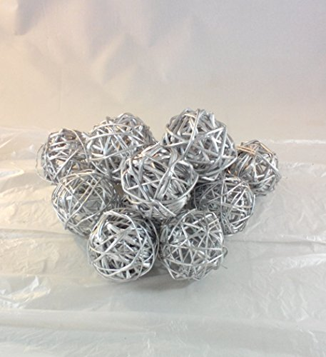 Decorative Twig Spheres (Silver ) Rattan Ball Vase Filler Bowl Filler
