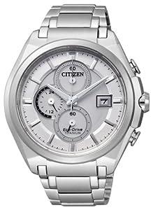 Citizen CA0350-51A - Reloj cronógrafo de cuarzo para hombre, correa de titanio multicolor