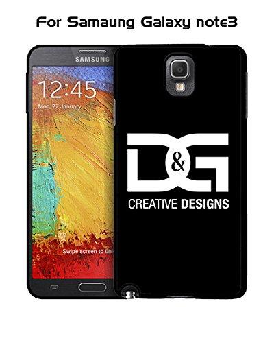 Brand Logo D&G Galaxy Note 3 Custodia Case - Creative Plastic Cute Hard Shell Ultra Slim Rugged Custodia Case cover for Samsung Galaxy Note 3