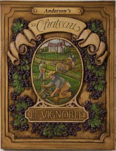 French Chateau Personalized Wall Plaque by Piazza Pisano