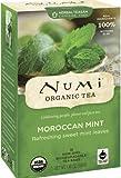 Numi Organic Tea Moroccan Mint, Full Leaf Herbal Teasan, Caffeine Free, 18-Count Tea Bags (Pack of 3)