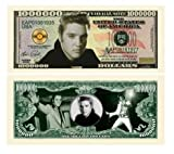 Elvis Presley Million Dollar Bill With Bill Protector Amazon.com