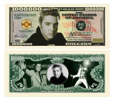 (10) Elvis Presley Million Dollar Bill - 1