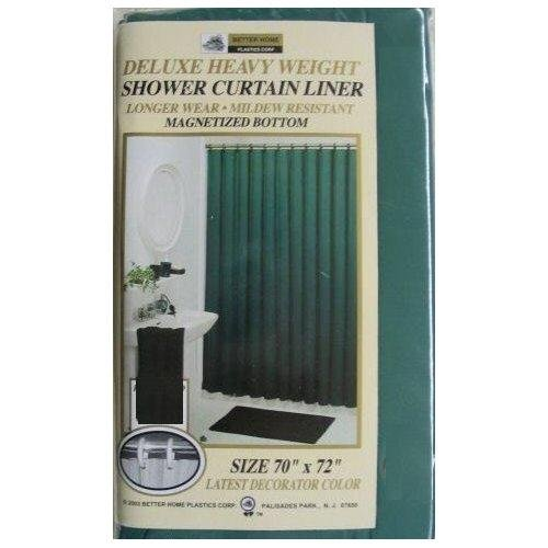 NEW VINYL SHOWER CURTAIN LINER WITH MAGNETS - HUNTER GREEN