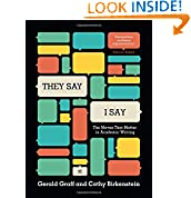 Gerald Graff (Author), Cathy Birkenstein (Author)   30 days in the top 100  (12)  Buy new:   $26.75  53 used & new from $24.20